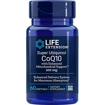 Life Extension Super Ubiquinol COQ10 with Enhanced Mitochondrial Support 100 mg, 60 Count, Packaging May Vary