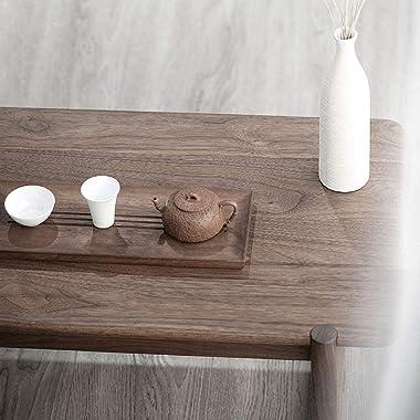 Table Bay Window Tea Tatami Black Walnut Solid Wood Tea Japanese Zen Tea Simple Square Low (Size : 70x42x33cm)