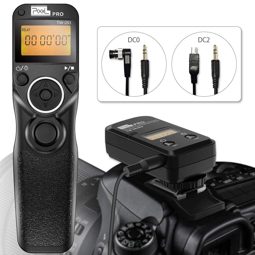 Wireless Shutter Time Remote Release Control N1//N3 for Nikon D3200 D3300 D5300 D5200 D5500 D5600 D7200 D7500 D750 D90 D800 D810 D850 D700 D1 D2 Series