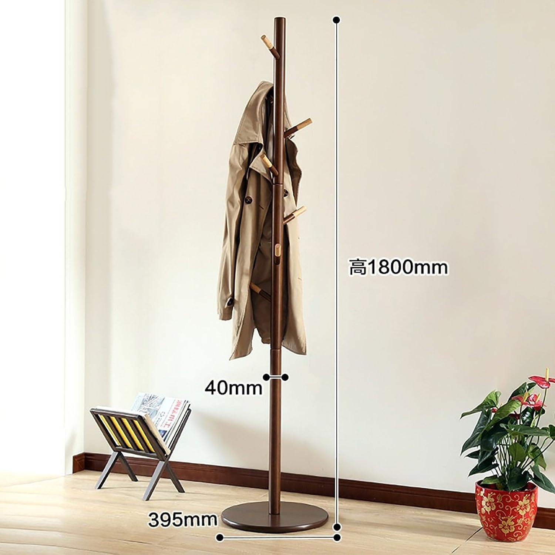 Creative Coat Rack Simple Wood Hanger Floor-Standing Bedroom Hanger Household Simple Clothes Rack (color   B)
