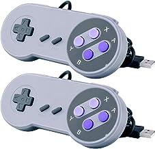 CC&SS 2 Packs USB Controller for Classic Super Nintendo NES SNES, USB Famicom Controller Joypad Gamepad for Laptop Compute...