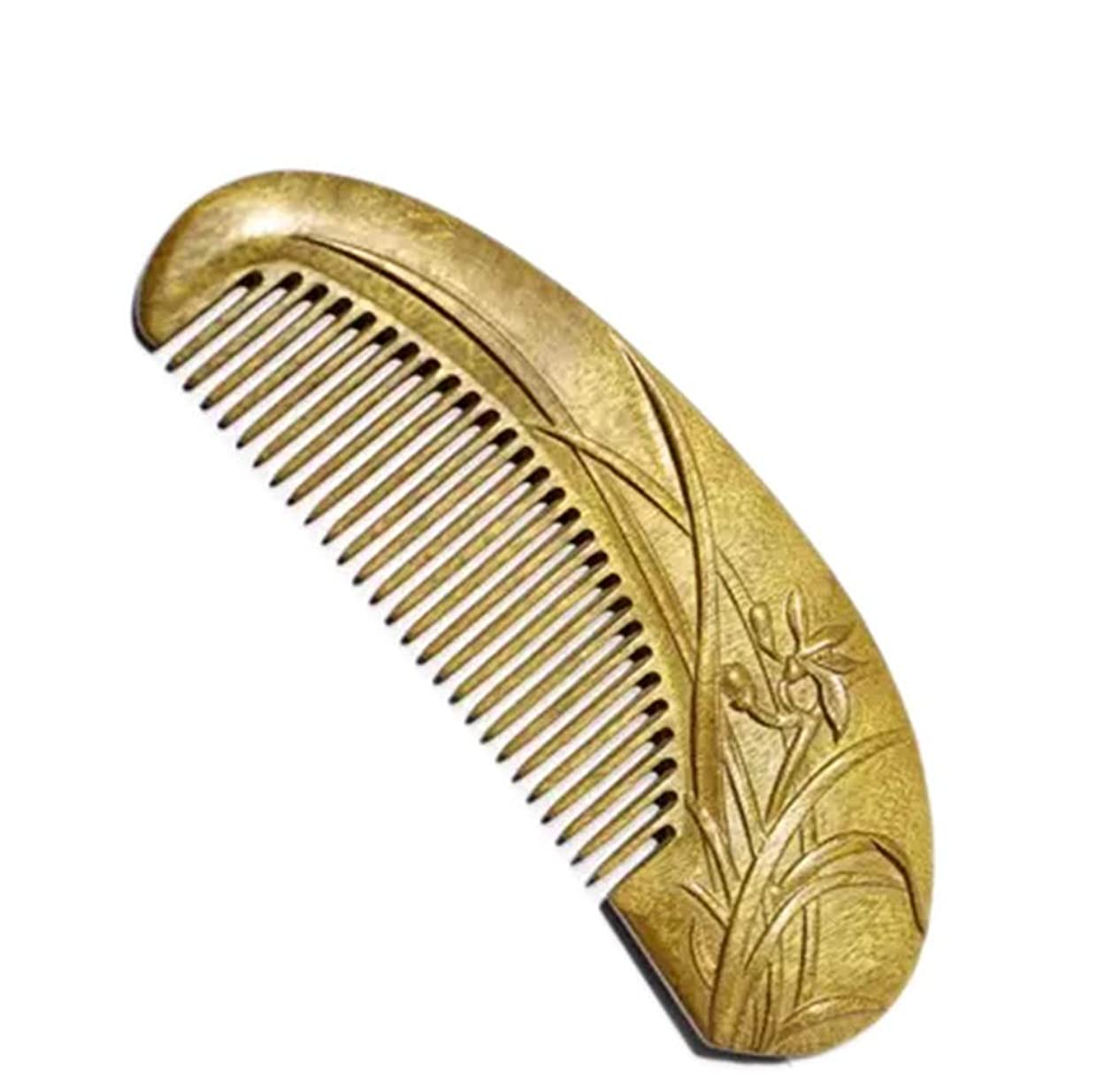 インディカ飼いならす火曜日Fashian手彫りの蘭の櫛/黒檀のフィービーの櫛は友達に送ることができます モデリングツール (色 : ゴールド)