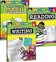 180 Days of Reading, Writing and Math for Kindergarten Set: Practice - Assess - Diagnose