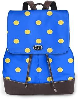 SGSKJ Rucksack Damen Beschriftung Sweet 617, Leder Rucksack Damen 13 Inch Laptop Rucksack Frauen Leder Schultasche Casual Daypack Schulrucksäcke Tasche Schulranzen
