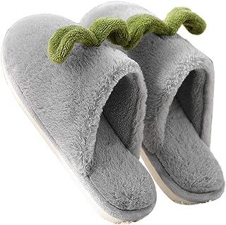 CyFe Paire de chaussons antidérapants en coton pour chambre à coucher Gris Taille XS