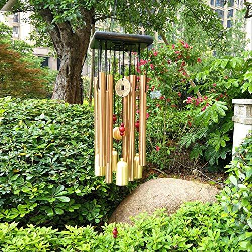 Fenteer Metall Chinesisch Windspiel Klangspiel Gl/ücksbringer Glocke Feng Shui Deko f/ür Balkon Garten L