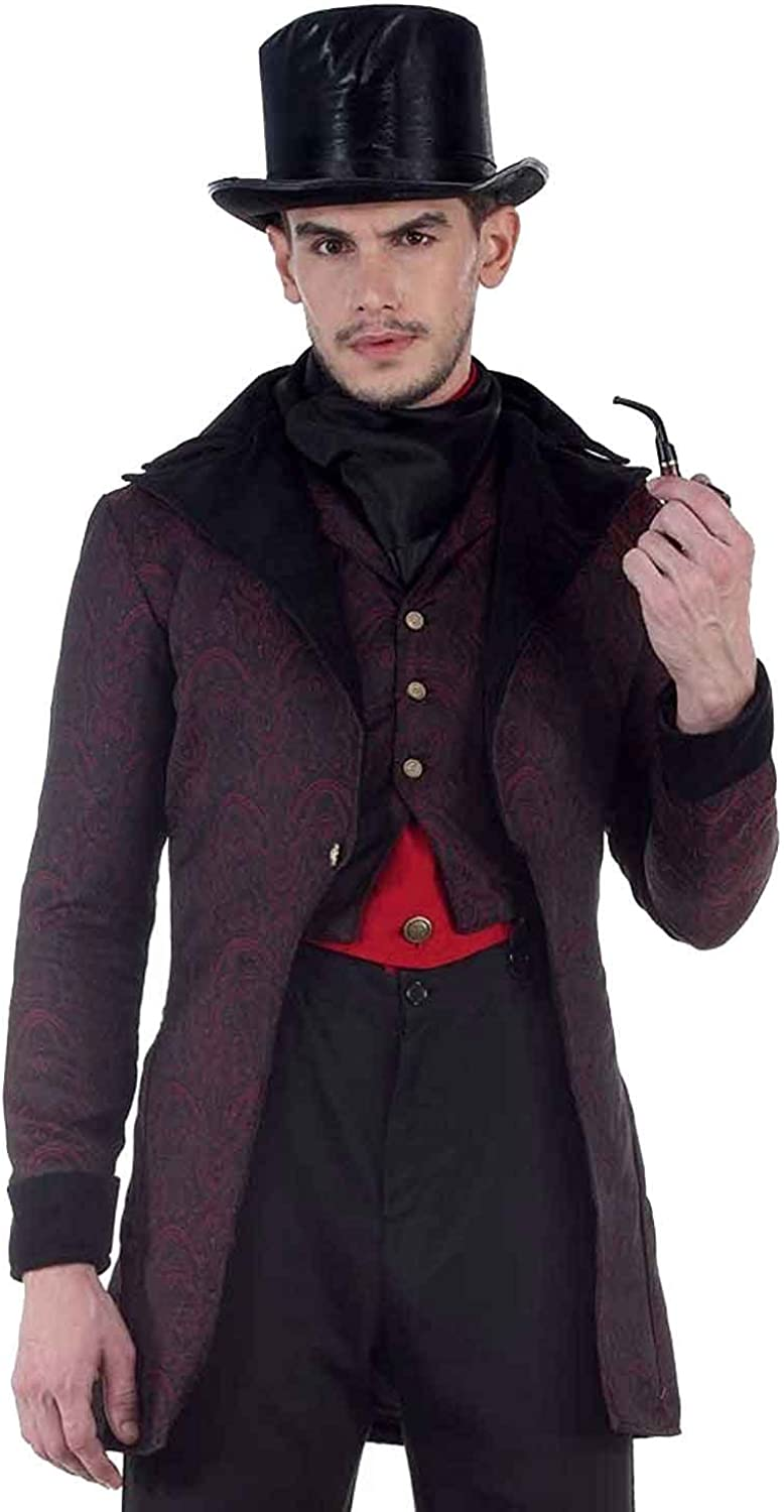 Men's Steampunk Jackets, Coats & Suits ThePirateDressing Steampunk Victorian Pirate Gothic Cosplay Mens Costume Coat Jacket  AT vintagedancer.com