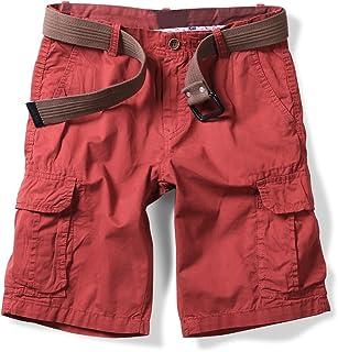 a0b9feafaaa00 Phorecys Homme Bermuda Chino en Coton Shorts Casual Slim sans Ceinture