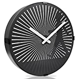 Betus 12 Inches Non-Ticking Optical Illusion Wall Clock - Animated Zoetrope Wall Clock for Office, Bedroom and Living Room - Battery Operated - Walking Boy