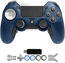 PS4 Elite Controller with Paddles,Heavyweight Dual Vibration Elite PS4 2.4G Wireless Custom Game Controller Joystick for Play Station 4 Gaming Console