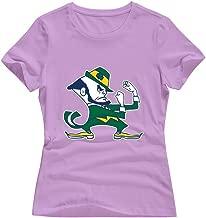 Tavil DeepHeather 100% Cotton Notre Dame Fighting Irish T-Shirts For Lady