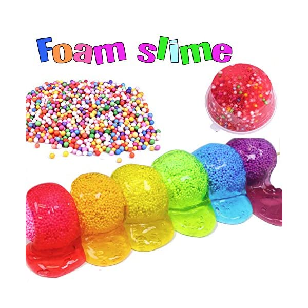 ESSENSON Slime Kit - Slime Supplies Slime Making Kit for Girls Boys, Kids Art Craft, Crystal Clear Slime, Glitter, Slime… 11
