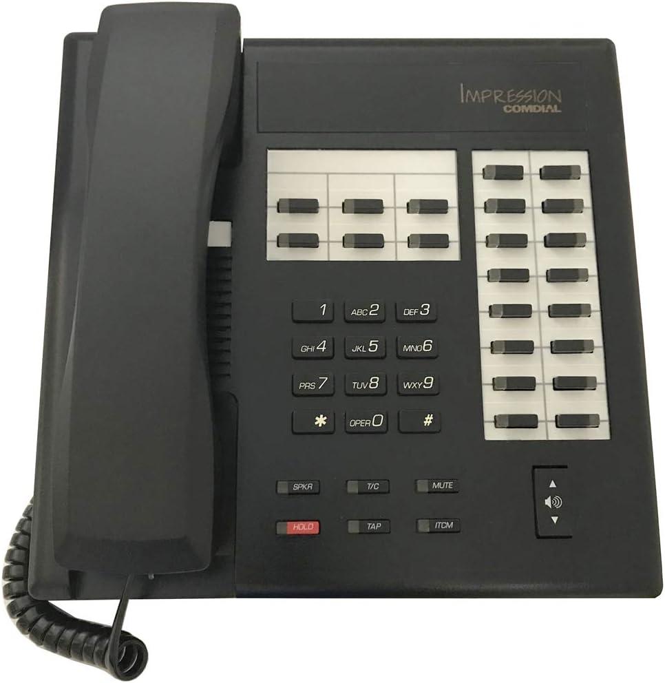Comdial Impression 2122X-FB Flat Black Low price 2021 Button Telepho 22 Digital