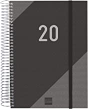 Finocam 741106020 Espiral Year- Agenda 2020,  70gr/m2, Negro, 155 x 212 mm
