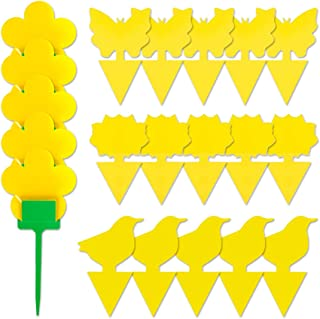 UTSLIVE 20PCS Dual-Sided Yellow Sticky Traps Gnat Sticky Traps for Fungus Gnats, Whiteflies, Aphids, Leafminers with Plast...