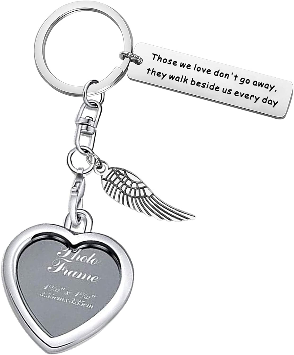 Photo Frame Keychain Memorial Gifts of Loved One Those We Love Don't Go Away