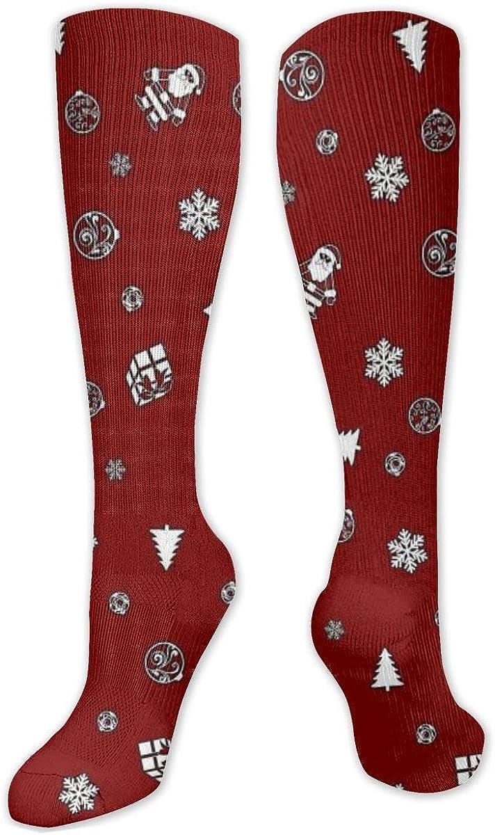 White Red Christmas Gift Knee High Socks Leg Warmer Dresses Long Boot Stockings For Womens Cosplay Daily Wear