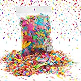 Party Popper Lluvia de Confeti 50 g Papel Confeti decoración Fiesta decoración Mesa Confeti; Respetuoso con el Medio Ambiente en Papel de crepé Reciclado; Extra Larga Moscas & Flotar