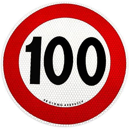 4r Quattroerre It 1545 100 Selbstklebende Geschwindigkeitsbegrenzung 100 Km H Eu Genehmigt Auto