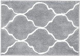 HEBE Bathroom Rug Microfiber Bath Rugs for Bathroom Non Slip Absorbent Bath Mats Floor Carpet Machine Washable Geometric G...
