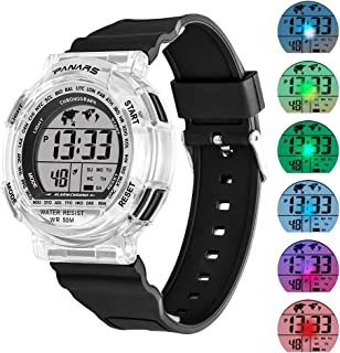 Kids Sport Digital Watches, Boys Girls Outdoor 50m Waterproof Electrical Wristwatch with Alarm Stopwatch Reminder for Age 8-16 Child Young Teen