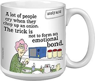 Tree-Free Greetings Extra Large 20-Ounce Ceramic Coffee Mug, Aunty Acid Onion Tears