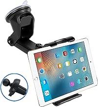 2-in-1 Car Dashboard Windshield Tablet Mount, Air Vent Holder,7