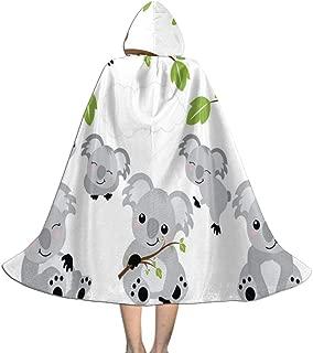 Halloween Costumes Cartoon Baby Koalas Hooded Witch Wizard Cloak for Womens Mens Kids