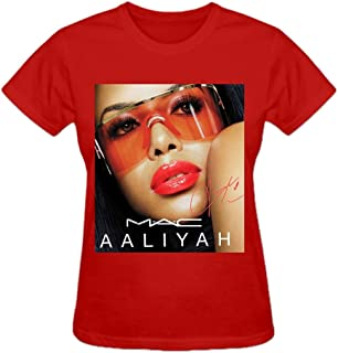 NIWAHO Custom Aaliyah RIP T Shirts Cotton O neck Woman