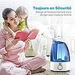 TaoTronics 3.5L Humidificateur d'Air Maison Bébé , 30W Filtre en Céramique Ultrafine, Double Buse à 360 Degrés, Protection Niveau d'Eau Bas, Voyant LED, Sortie de Brume 0 à 300mL/h #3
