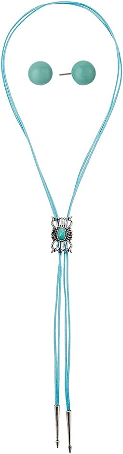 Bolo Style with Concho Necklace/Earrings Set