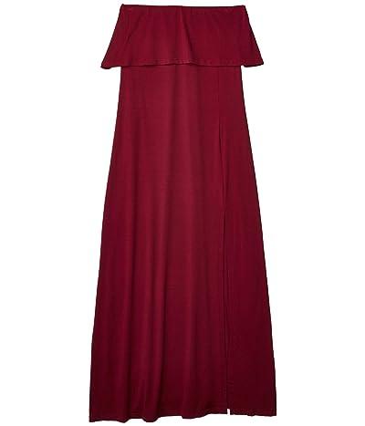 Susana Monaco Lightweight Strapless Overlay Slit Dress (Wild Berry) Women