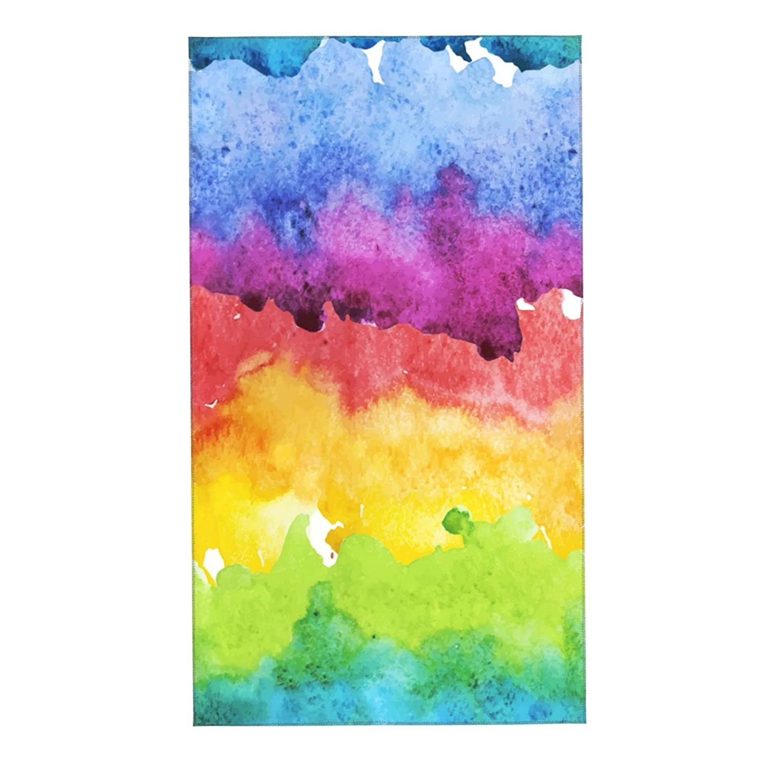 Gorgeous Colorful Abstract Painting Contrasting Towels Soft In a popularity Face Mi Cloth