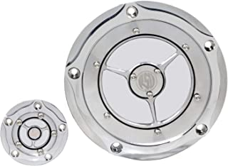 XMMT Chrome Clear Derdy Timing Timer Cover for Harley Motorcycle Models Road King Street Glide Dyna Softail 1999-2014