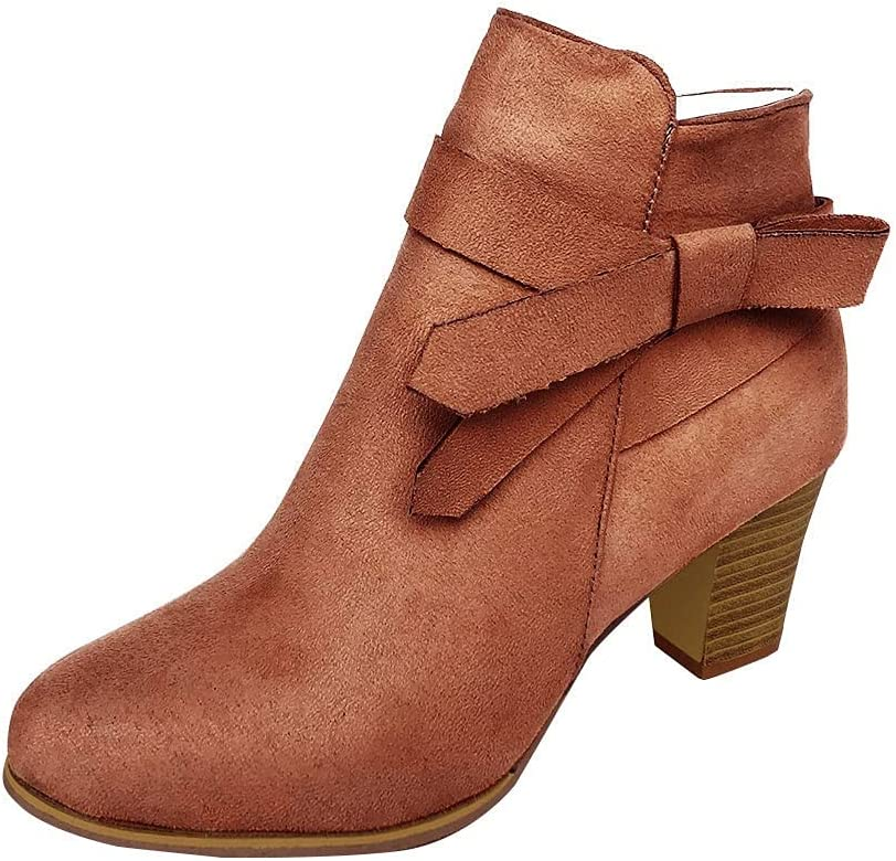 TIANMING Boots Daily bargain sale for Ranking TOP9 Women Chunky Heels High R Fashion Ankle
