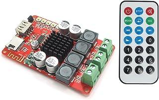 DollaTek TPA3116 Tablero del Amplificador de energía de Bluetooth 2X50W Digitaces con el teledirigido, Tarjeta del TF de l...