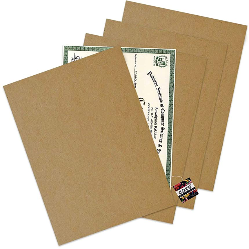 25 Pack of COTU (R) 8.5x11 Chipboard Cardboard Craft Scrapbook Material Scrapbooking Packaging Sheets Shipping Pads Inserts 8 1/2 inch x 11 inch Chip Board (Kraft Color)