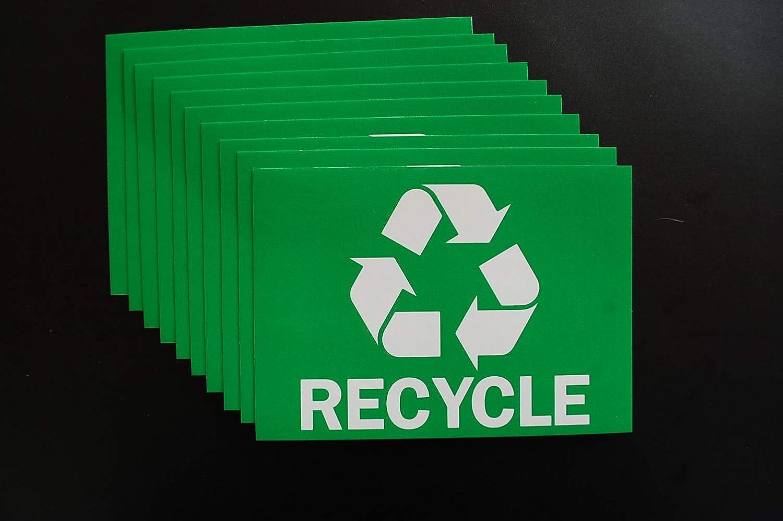 10 Pack Recycle Stickers Max 61% OFF Trash Superlatite Bin 5