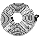 Yanwoo 304 Stainless Steel 25 Feet Garden Hose, Lightweight, Kink-Free, Heavy Duty Outdoor