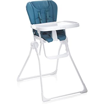 Joovy Nook High Chair, Compact Fold, Swing Open Tray, Turquoise