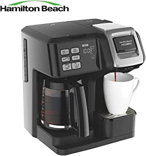 Hamilton Beach 49976 FlexBrew 2-Way Brewer Programmable Coffee Maker Black - (Certified Refurbished)