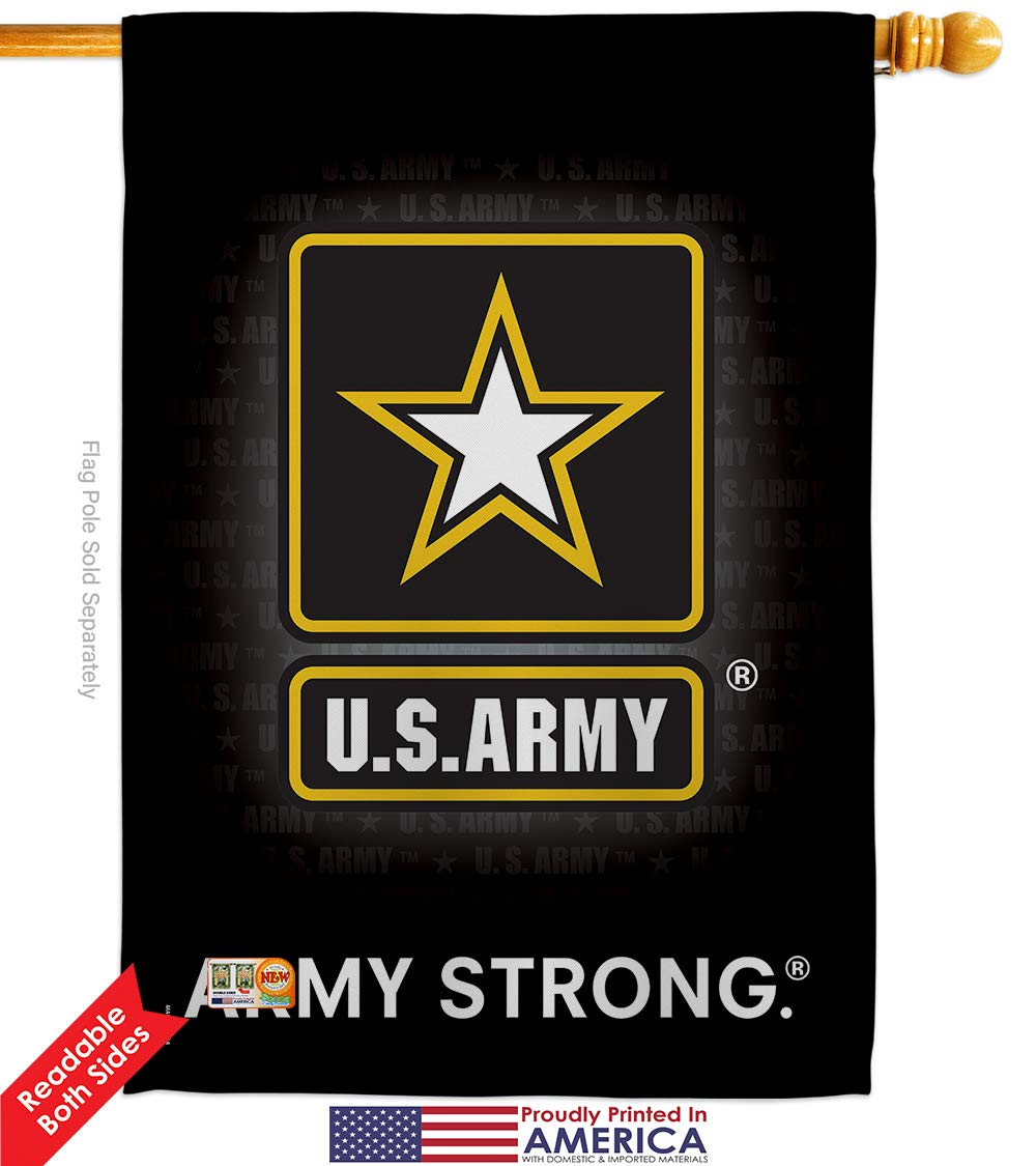 Breeze Decor U S Army House Flag Armed Forces Rangers United State American Military Veteran Retire Official Decoration Banner Small Garden Yard Gift Double Sided 28 X 40 Imported Garden Outdo Amazon Com