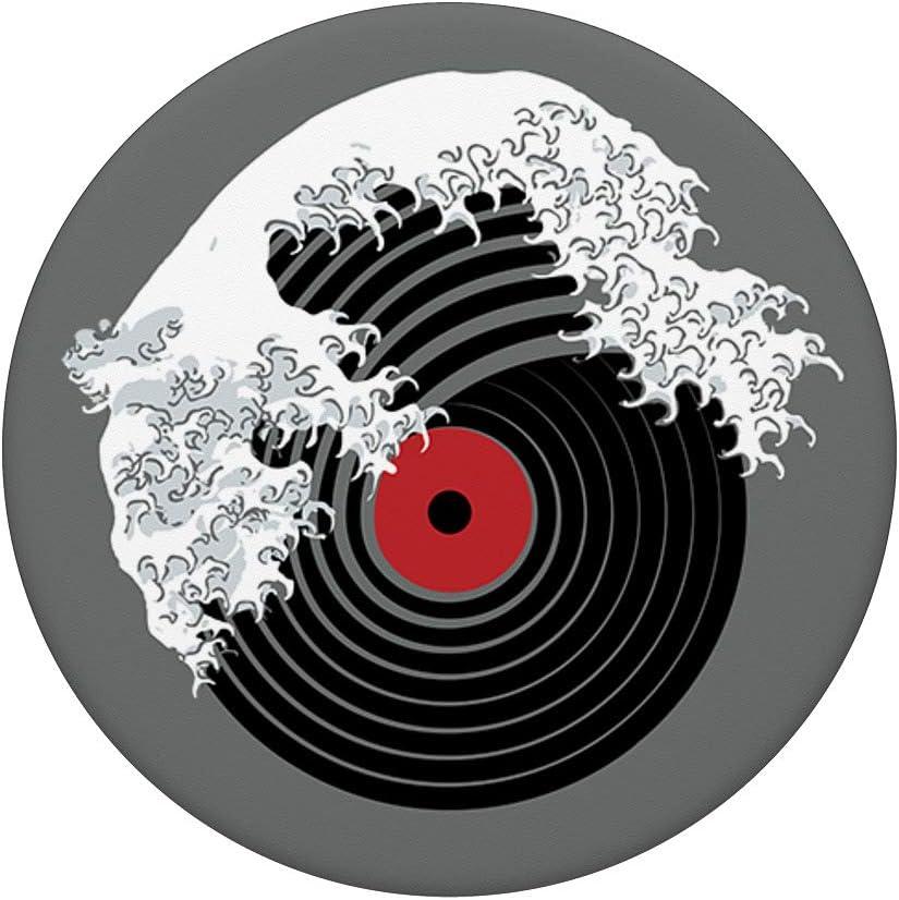 Support et Grip pour Smartphone//Tablette avec un Top Interchangeable La Grande Vague de Musique DJ Platine Vinyle Kanagawa Japan PopSockets PopGrip