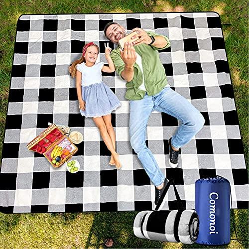 Picknickdecke 200 x 200 cm Picknickdecke Wasserdicht Strandmatte Picknickdecke XXL Outdoor Decke Campingdecke für Picknick,Strand,Campen,Wandern - Picknickdecke Isoliert Wasserdicht Tragbar Faltbar