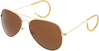 Large Classic Teardrop Cable Temple Curl Arm Wire Aviator Sunglasses 61mm