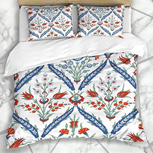Conjuntos de funda nórdica Alfombra sin costuras tradicional Adorno de Estambul Muestra floral...