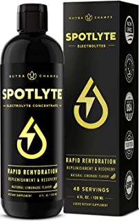 Electrolyte Concentrate Supplement for Rapid Rehydration & Recovery - Zero Sugar or Calories - Premium Formula with Salts, Magnesium, Sodium & Potassium - 4oz. SpotLyte Natural Liquid Drink Drops