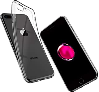 UNBREAKcable Funda para iPhone 7 Plus/iPhone 8 Plus - Ultra Fina y Suave de Silicona TPU Protectora y Transparente Carcasa...