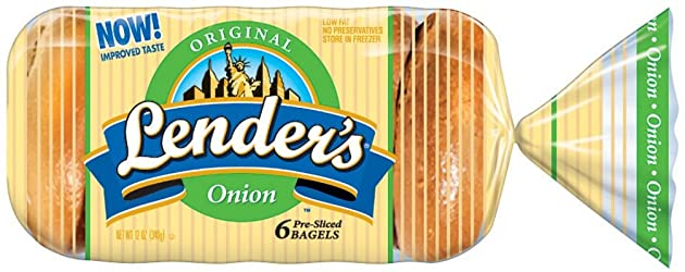 Lender's, Original Onion Bagel, 6 ct, 12 oz (Frozen)