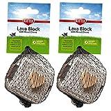 Kaytee Lava Block Chew Toy - 2 Pack
